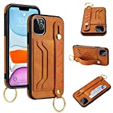 PXMY iPhone 11 Pro Max Wallet Case, Luxury Stylish PU Leather Ultra Slim & Thin Soft TPU Anti-Slip Scratch Resistant Cover Case with Card Slot Holder Buckle for Apple iPhone 11 Pro Max 6.5'