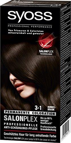 Syoss Haarfarbe, 3-1 Dunkelbraun, 3er Pack (3 x 115 ml)