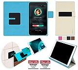 reboon Hülle für Asus FonePad 7 FE375CXG Tasche Cover Hülle Bumper | in Beige | Testsieger