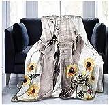 XZDPPTBLN Mantas de Franela Súper Suave de Lana Elefante Animal Gris Mantas con Estampados Esponjosa y Cálida Mantas para la Cama y el Sofá 130cm x 150cm