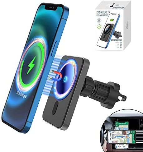 for Apple iPhone 12 Magnetic Magsafe Wireless Car Charger Mount 15W QI Fast Charging Air Vent product image