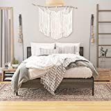 WeeHom Metal Platform Bed Frame with Wood Headboard and Footboard Under Storage 14 Inch Beds Mattress Foundation Under-Bed Storage No Box Spring Needed Noise-Free Queen