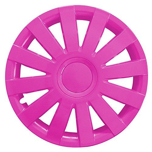 Eight Tec Handelsagentur (Größe wählbar) 15 Zoll Radkappen/Radzierblenden AGAT Pink passend für Fast alle Fahrzeugtypen – universal