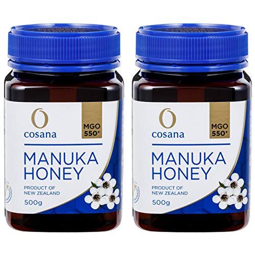 cosana コサナ ニュージーランド産はちみつ マヌカハニー MGO550+ 500g 2個セット