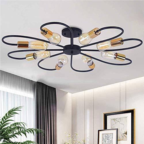 Lámpara de techo moderna con forma de flor para sala de estar