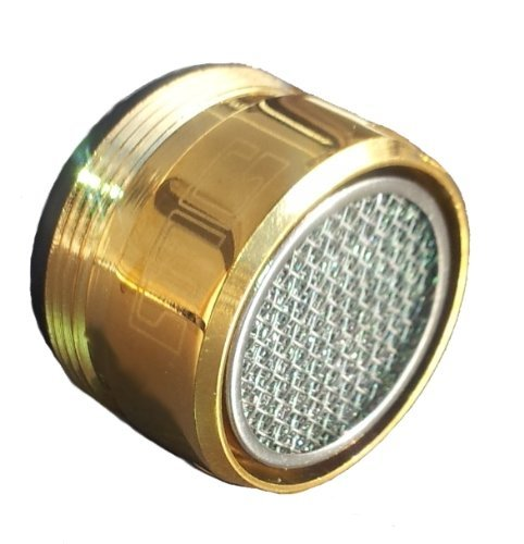 Gold Strahlregler M28 AG, M28x1 Perlator meist für Badewannen Armaturen, incl. Dichtung und Einsatz