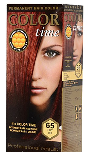 Color Time Haarfarbe Permanent, mit Gelée royale, 65 Feuriges Rot