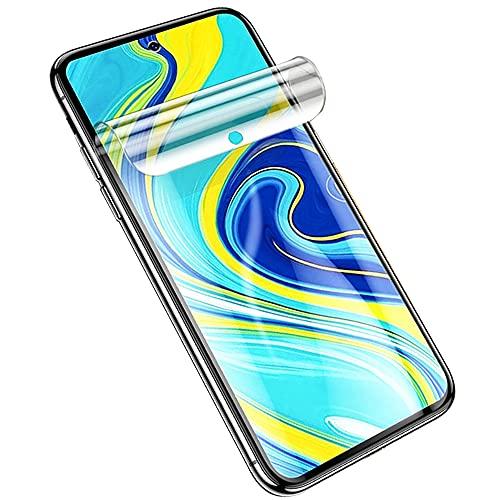 SOMEFUN【2 Piezas】Protector de Pantalla Compatible con Xiaomi Redmi Note 9 /Redmi 10X 4G 6.53Pulgadas Película de Hidrogel de TPU Suave de Cubierta Completa [Vidrio no templado,Transparente]