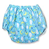Rearz - Crystal High Gloss Waterproof Pant - Blue Clouds (Small)