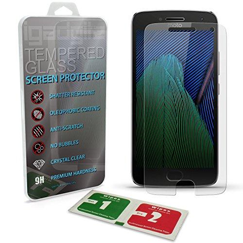 iGadgitz U6565 Protector de Pantalla Vidrio Templado Compatible con Motorola Moto G 5ª Gen Plus (Lenovo Moto G5 Plus) Dureza Resistente Anti Arañazos