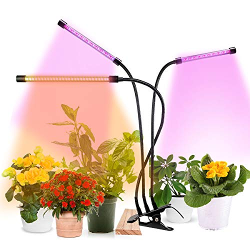Grow Light for Indoor Plants, 75W Full Spectrum Plant Light with Clip Stand for Indoor Plants, 3 Modes & 5-Level Brightness,Auto On/Off Timing 4H/8H/12H