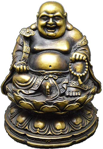 aipipl Accesorios para el hogar Escultura Estatua Cobre Puro Maitreya Buda Estatua Decoracin Decoracin del hogar Sentado Lotus Ruyi Gran Vientre Riendo Buda Bronce Decoracin Artesana