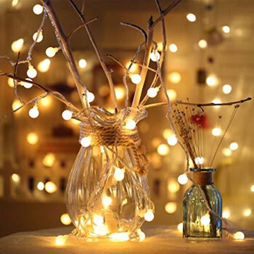ZLBZBB Lichterkette, Netto Licht, 3 Meter, warmes Weiß Vorhang Fee Licht, verwendet für Gartenhof Rasen Dekoration