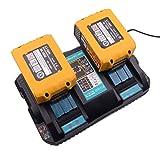 Cargador con 2 piezas BL1850 de 4 A, batería de 18 V, 5 Ah, repuesto para motosierra Makita DUC122Z, cortasetos con batería DUH523Z, aspiradora DCL182Z taladro atornillador inalámbrico DDF482Z