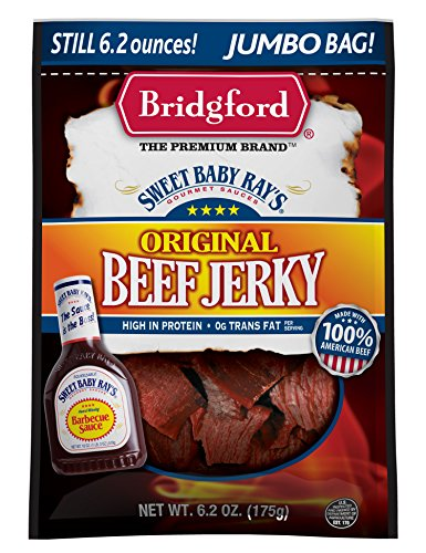 Bridgford Sweet Baby Ray's Honey BBQ Beef Jerky 6.2 oz.(Pack of 2)