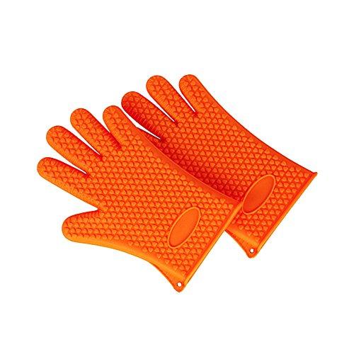 Inchant Silicone Resistente al Calore Glove - Antiaderente Forno Mitt per Grigliare, Barbecue, Cucina - Manipolazione Impermeabile Guanto da Cucina Sicuro di pentole e padelle (1 Coppia)