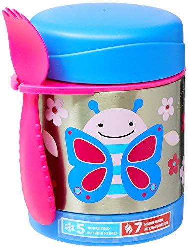 Skip Hop Aufbewahrungsbehälter, für Essen aus Edelstahl, isoliert, Schmetterling Blossom, mehrfarbig