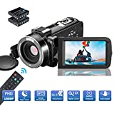 MELCAM Videocamera 1080P 36MP Camcorder IR Visione Notturna Youtube Vlog Webcam 3.0