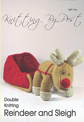 Knitting Pattern Reindeer and Sleigh - Christmas Knitting Pattern Leaflet