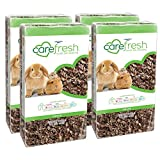 carefresh 99% Dust Free Natural Paper Small Pet Bedding with Odor Control, 56 L (Pack of 4)