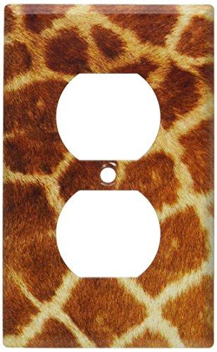 Faux Giraffe Fur Switch Plate