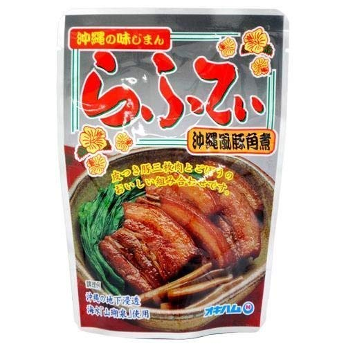 沖縄の味じまん らふてぃ ごぼう入 165g×18袋 オキハム じっくりと時間をかけて煮込んだ豚バラ肉のラフテー 豚の旨みとゴボウの風味がマッチした沖縄風豚角煮 沖縄土産にもおすすめ