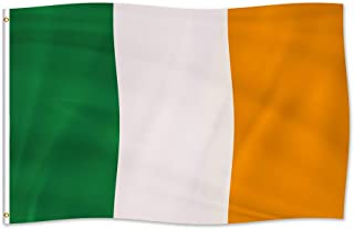 foxany Ireland Flag 3 x 5 Ft, Irish National Flags, UV Fade Resistant, Double Stitched & Polyester & Brass Grommets Decoration for Outdoor, Garden