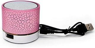مكبر صوت بلوتوث صغير لاسلكي مشغل موسيقى ام بي 3 ، S-10U ، زهري