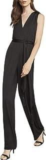BCBGMAXAZRIA Womens Cahya Tie-Waist Jumpsuit