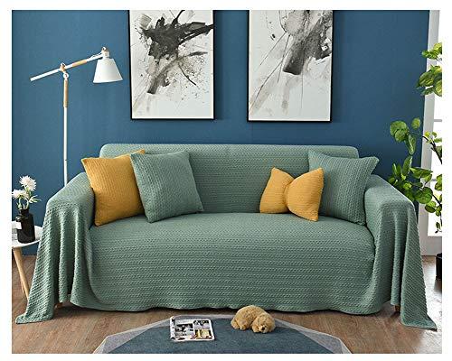 ZIXING Fashion Cobertura Total Funda de sofá Universal de 1/2/3/4 plazas Protectora Sofá Cubierta de Sofá Funda Decorativa Menta Verde 45 * 45cm(Funda de Almohada)