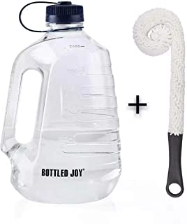 BOTTLED JOY Water Bottle, Large Water Jug with Handle BPA Free Plastic Sports Water Bottle Wide Mouth and Leakproof Gallon Water Bottle for Outdoor Gym Travel Office Home