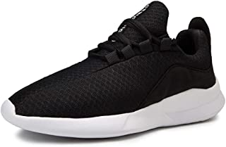 XUJW-Shoes, for Men Outdoor Hiking Fashion Sneakers Mens Sport Shoes Lace Up Mesh Pure Color Breathable Lightweight Breathable Running Casual Round Toe (Color : Black, Size : 9.5 UK)