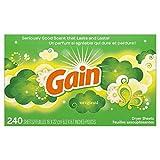 Gain Dryer Sheets Laundry Fabric Softener,...