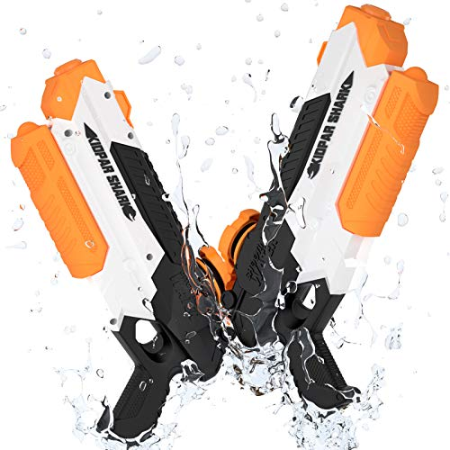 BABCOO 2 Pack Water Guns for Kids Adults,Squirt Guns Water Blaster with Durable Shooting&Long Range, Summer Swimming Pool Games Beach Toys Party Favors Outdoor Fighting Play for Boy Girl