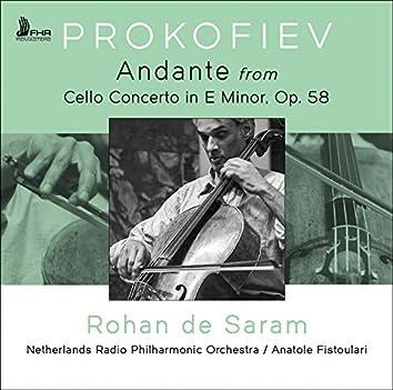 Cello Concerto in E Minor, Op. 58: I. Andante (Live)