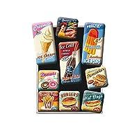 Diese farbenfrohen Kühlschrank-Magnete schaffen Ordnung am Kühlschrank und halten problemlos Ihre Postkarten, Zettelchen, Pizzaflyer und Co. (nicht für Glastafeln geeignet). Sie erhalten 9 verschiedene Magnete in zwei Größen. Die kleinen Magnete sind...