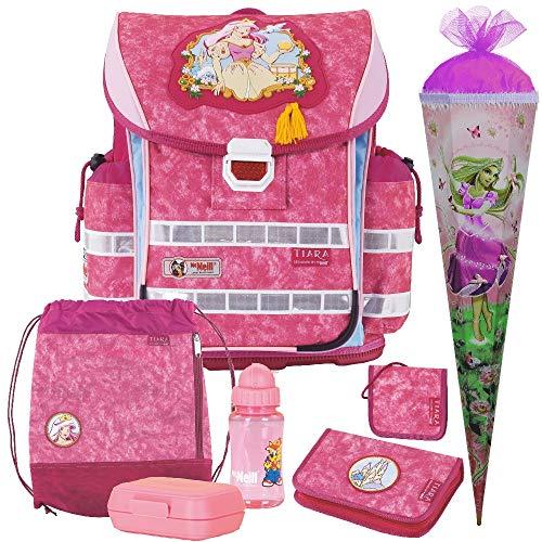 Tiara - Prinzessin - Ergo Light 2 Schulranzen-Set 7 TLG. mit Schultüte, Brotdose und Trinkflasche