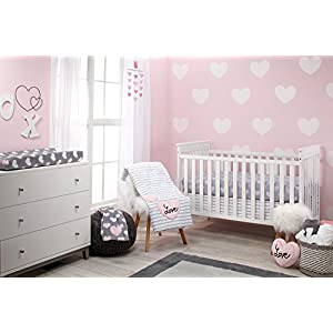 Little Love by NoJo 5 Piece Comforter Set, Hugs and Kisses