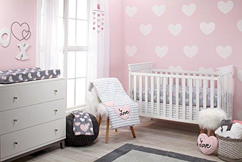 Little Love Hugs & Kisses 5 Piece Crib Bedding Set