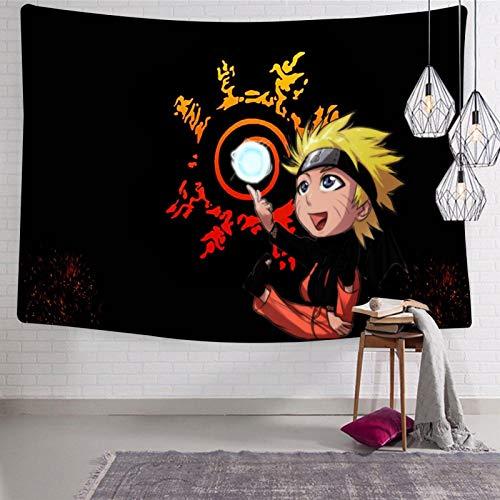 3354 Tapiz para colgar en la pared, diseño de dibujos animados Na-ru-to Anime, suave y divertido, para habitación de cama de 123 x 21 cm