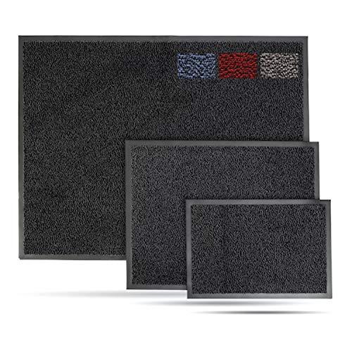 Entrando Fußmatte 150x90 cm Schwarz Anthrazit - 6 Größen - Schmutzfänger Läufer Waschbar - Schmutzfangmatte Eingang Sauberlaufmatte
