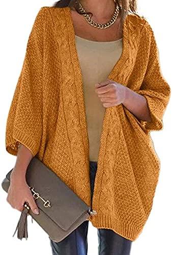 Abrigos de las mujeres Chaquetas de punto más tamaño suelto frente abierto Cardigan suéteres