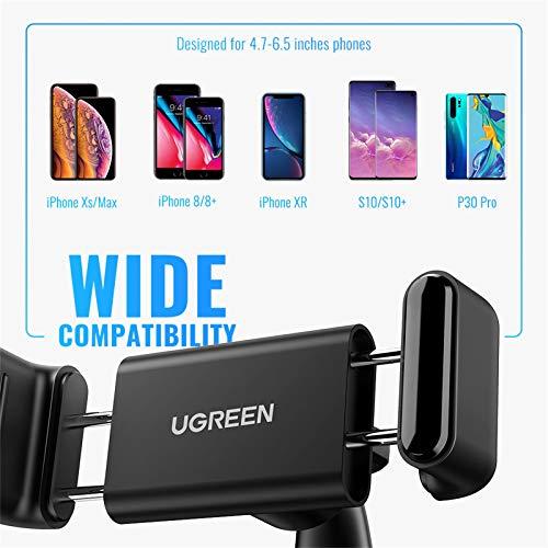"UGREEN Supporto Cellulare Auto, Porta Auto Smartphone per Cruscotto, Smartphone Supporto Auto Universale 4-7"" per GPS Tomtom, iPhone 12 Pro Max XS X, Galaxy, Huawei, Xiaomi, Oneplus, LG, Ecc."