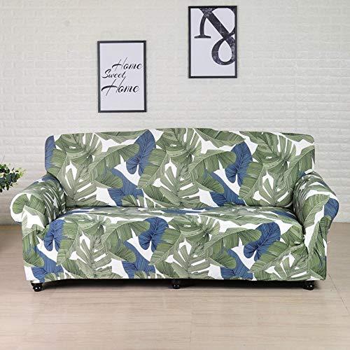 Funda de sofá elástica de algodón Funda de sofá Todo Incluido para Sala de Estar Funda elástica en Forma de L Sofá de Esquina A12 2 plazas