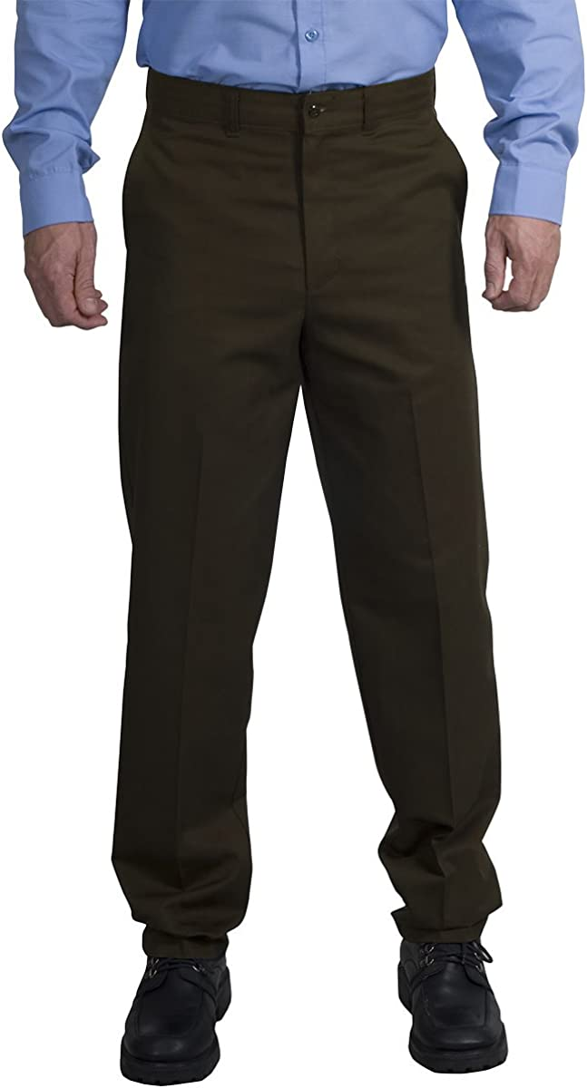 Red Kap All items free shipping Men's Stain Resistant Flat Brown Attention brand Pants Front 40W Work