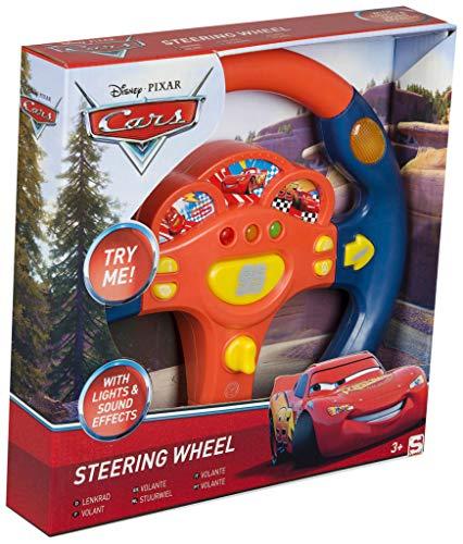 Sambro- Cars Volante con Luces Y Sonidos Infantil, Color Naranja/Azul (DSC7-3161)