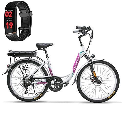 Extrbici Bicicleta eléctrica para Adultos Damas Todo Terren