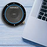 ABNICS CP910 | 2 in 1 USB and Bluetooth Conference Speakerphone, 360° Omnidirectional, and Specially Designed for Zoom, Microsoft Teams, Skype/Lync, Slack, 3CX, Online Meetings and School Classes