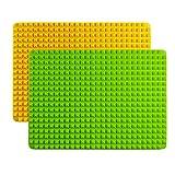 2 Piezas Tapete de Silicona para Hornear Galletas Piramidal, 39x27cm Silicona Lavable Barbacoa Reducir la Grasa No pegajoso Reutilizable para Hornear Galletas Perro (Verde y naranja)