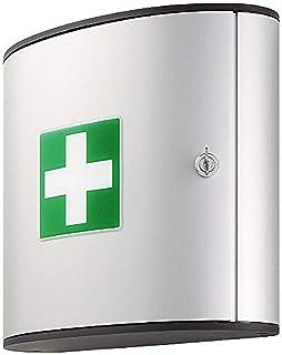 Durable 197123 First Aid Box Armoire à Pharmacie - Fermeture par Serrure à Clé - 2 compartiments - Modèle M - Vendue avec ...